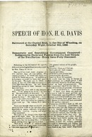 "[""Pamphlet.  \""Democratic and Republican Government Compared--Indisputable Facts and Figures from the Last Decade of the Two Parties--Every Issue Fully Discussed.\"" ""]"