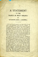 "[""<p> Pamphlet. Address by Governor of West Virginia, John J. Cornwell in 1917., including a proclamation listing members of the State Council of Defense for West Virginia.<br /> <br />  </p>""]"