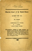 "[""Monograph.  On cover: Oral argument of John H. Holt, Esqu., Associate Counsel for West Virginia, in support thereof and in opposition to interest; Closing argument on behalf of West Virginia made upon these subjects by A. A. Lilly, Esq., Attorney General for West Virginia, and Opinions of the United States Supreme Court so far rendered in the case.   Accompanied by a transmission letter from A. A. Lilly to The Parkerburg Banking & Trust Co., Parkersburg, October 8, 1914.""]"