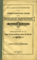"[""Catalog.  Fair \""to be held at Morgantown, W.Va., Wednesday, Thursday, and Friday, October 14th, 15th & 16th, 1879.\"" ""]"