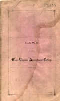 "[""Pamphlet.  Contains the regulations for the government of the West Virginia Agricultural College which later became West Virginia University.  ""]"