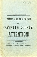 "[""Pamphlet.  \""S. L. Walker, Sec., Citizens. Executive Sub Committee.\""<br />""]"