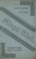 "[""<p> Pamphlet. Club organized January 21, 1895, for the purposes of: ""first, the maintenance of a club for innocent and athletic sports; Second, the mantenance [sic] of a Club for social enjoyments and a reading room.""</p>""]"