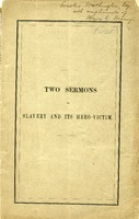 "[""Pamphlet.  Includes: The inquity : a sermon preached in the First Church, Dorchester, on Dec. 11, 1859, and: The man the deed, the event, a sermon preached in the First Church, Dorchester, on Sunday, Dec. 4, and repeated Dec. 11, 1859.""]"