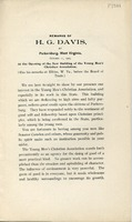 "[""Pamphlet.  Bound with: Remarks of H. G. Davis, at the first annual dinner of the Board of Trade, of Elkins, West Virginia, November 2, 1905.""]"