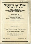 "[""<p> Pamphlet. ""Summarized by Chas. M. Earhart, attorney for the W. Va. Anti-Saloon League, Wheeling District.""</p>""]"